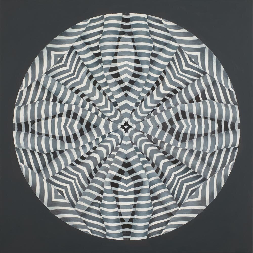 Centrifugal Stripe, 36 x 36 inches