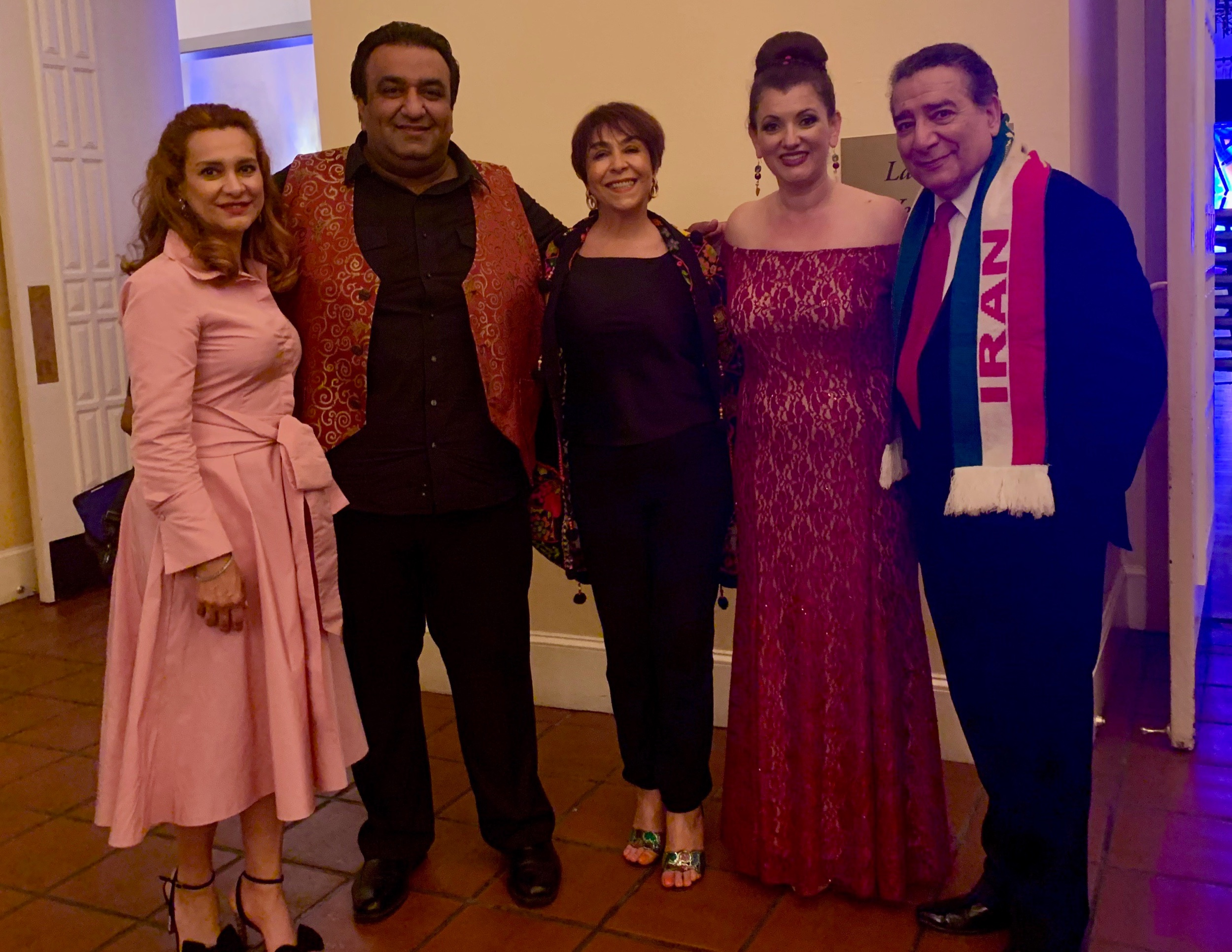 With amazing artists from left to right: Faranak Shahroozi, Shahin Yousefzamani, Ziba Shirazi, Niosha Nafei-Jamali, and Ardavan Mofid at Castlewood Country Club.