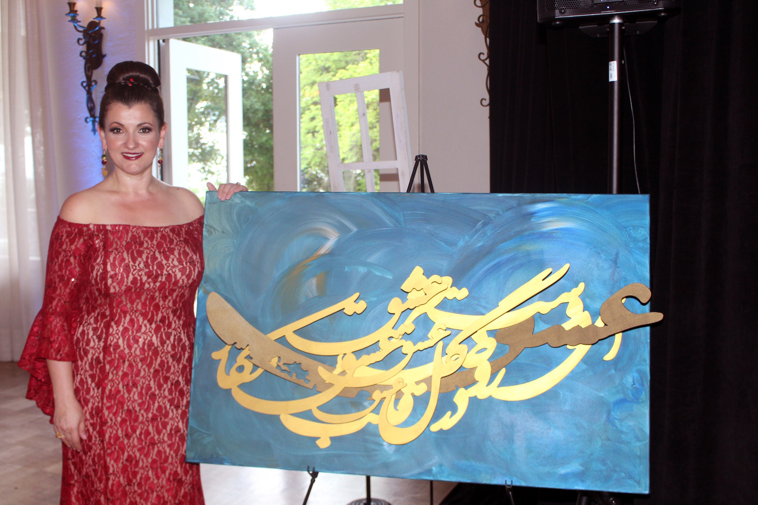 Art pieces donated by Gallery Eshgh.