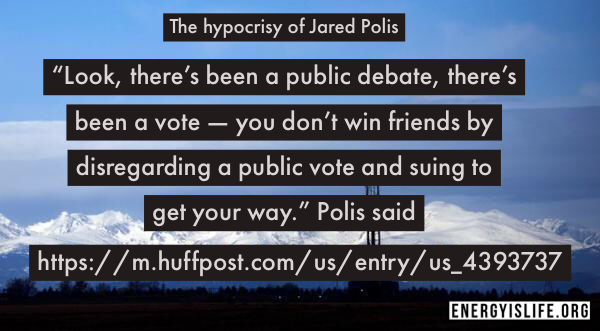 - Don't let Colorado's Governor, Jared Polis forget: https://m.huffpost.com/us/entry/us_4393737