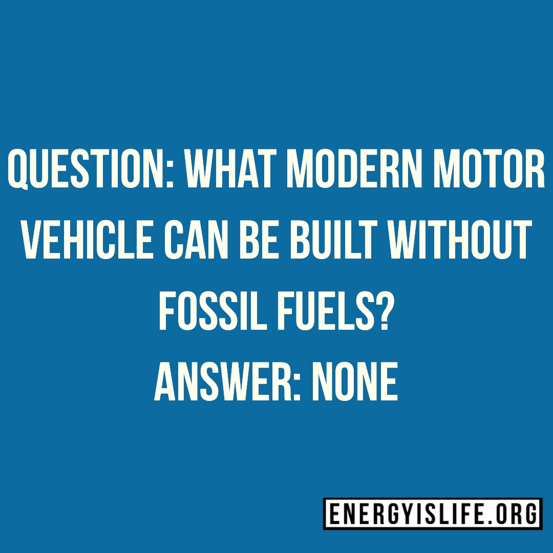- The hypocrisy of the anti-Oil & Gas zealots is almost comical as they continue to purchase and drive cars that would not exist with the Oil & Gas Industry. This includes EVs as a large portion of the materials used to build these vehicles are made from oil & gas. The batteries in these vehicles contain elements that could not be mined, transported or processed into their usable form at the current prices without oil & gas.