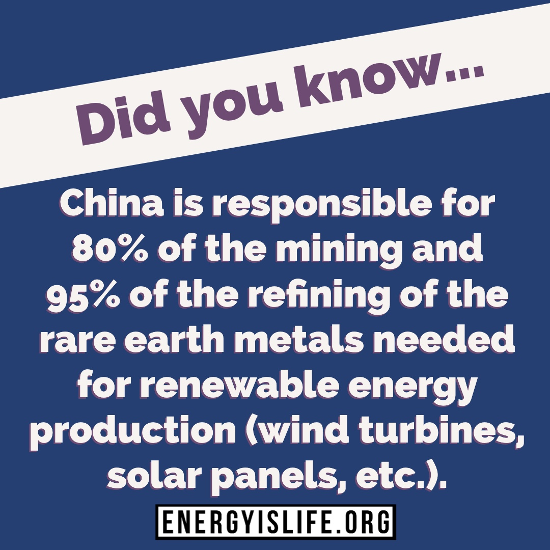 - Do you want our country to be even more dependent on China? Do you think this is a good idea?Read more about it here: https://lnkd.in/eUt3rSR#Energyislife #energystrong #oilandgas #think #fossilfuels #energy #environmental #foodforthought #factsgreaterthanemotions