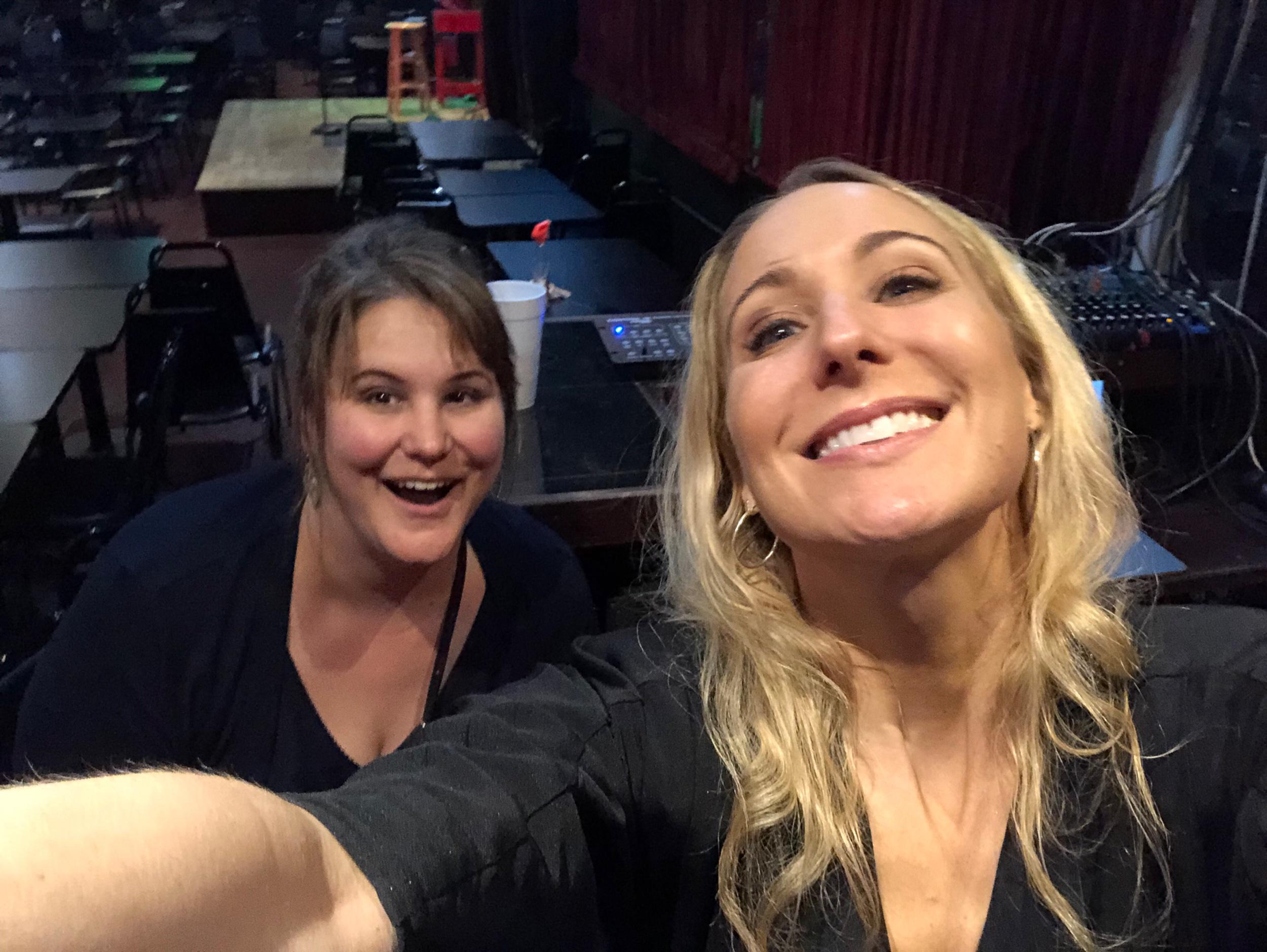 Nikki Glaser recreating my Andrew selfie after her show in ATL