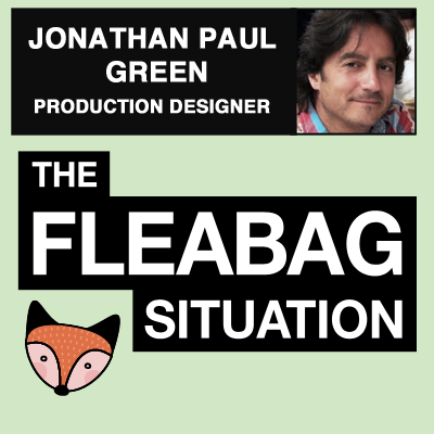 """9. Jonathan Paul Green (Production Designer) - A cafe filled with guinea pig decor? Paintings falling off church walls? A giant wall of cocks? It was all in a day's work for Jonathan Paul Green, the production designer on """"Fleabag."""" Chrissie and Allie got a chance to talk to Jonathan and get the behind-the-scenes scoop on some burning fan questions.Listen on SpotifyListen on Apple PodcastsListen on Google Podcasts"""
