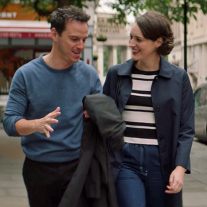 """12. """"Season 2, Episode 4"""" - Fleabag and the Priest seem ready for a rom-com when they spend a morning together trying on robes, testing out a Quaker meeting, and talking about guinea pigs. But the rising tension sends both of them to their corners for an afternoon of introspection (and a little alcohol) that leads to Confession, connection, and the scene that changed the word"""