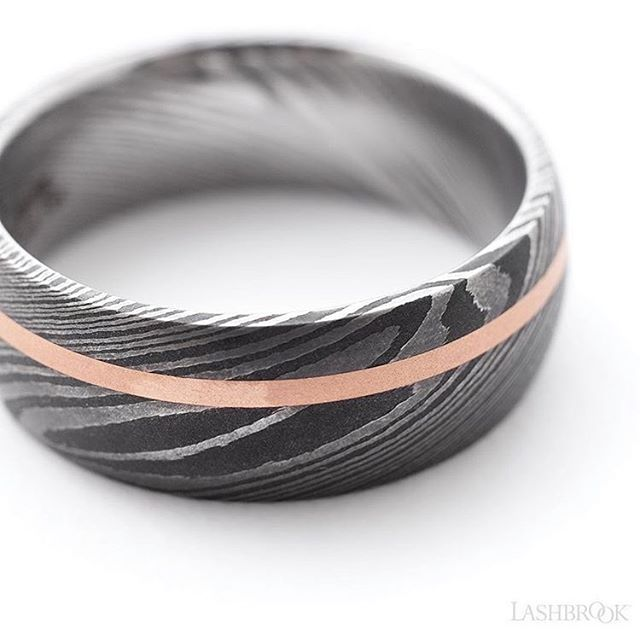 So many unique design available for our friends at Lashbrook! What's your wedding band style?  #mensfashion #mensweddingband #design #damascussteel #rosegold #style #whatsyourstyle #designyourown #lashbrookdesigns