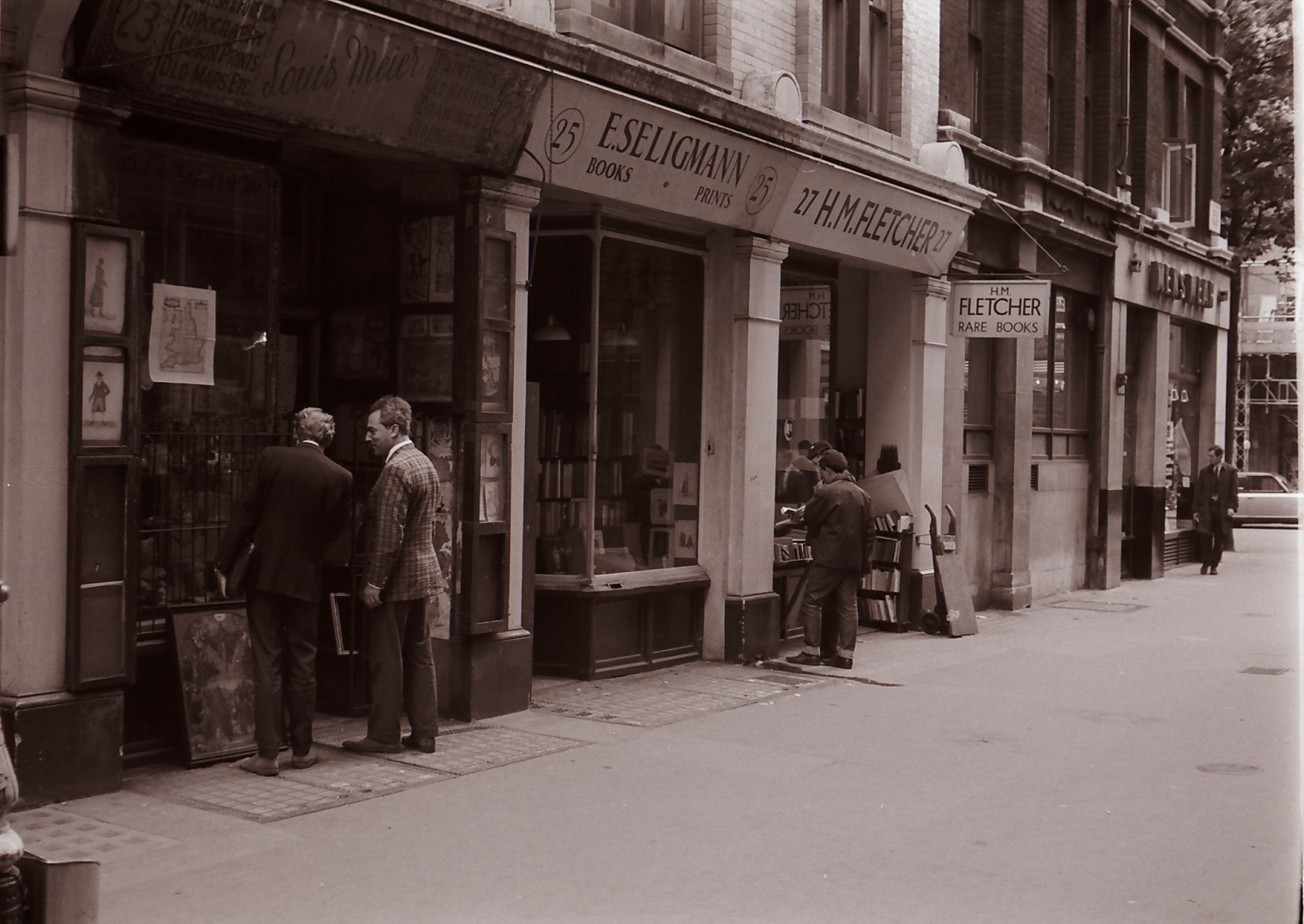 Photos of Cecil Court taken in 1966 by Trevor Vincent-Edwards
