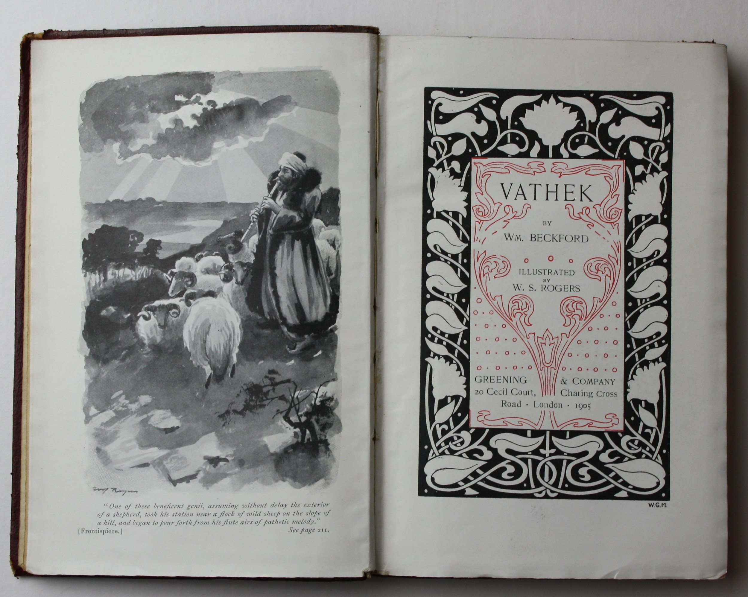 An edition of William Beckford's  Vathek , published by Greening & Company in 1905