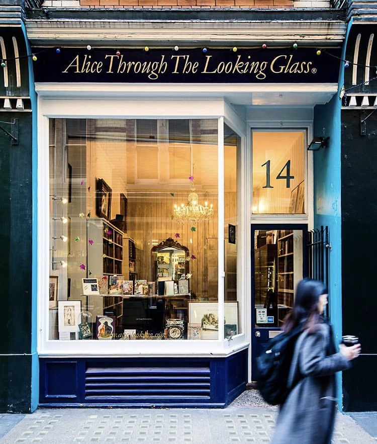 Alice Through The Looking Glass - Opening Hours:Monday to Saturday 11am-6pmCall: 020 7836 8854Email: info@alicelooking.com
