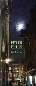 Peter Ellis Bookseller - Opening Hours:Monday to Saturday 10.30am-5.30pmCall: 020 7836 8880Email: peterellisbooks@hotmail.co.ukMember of the ABA