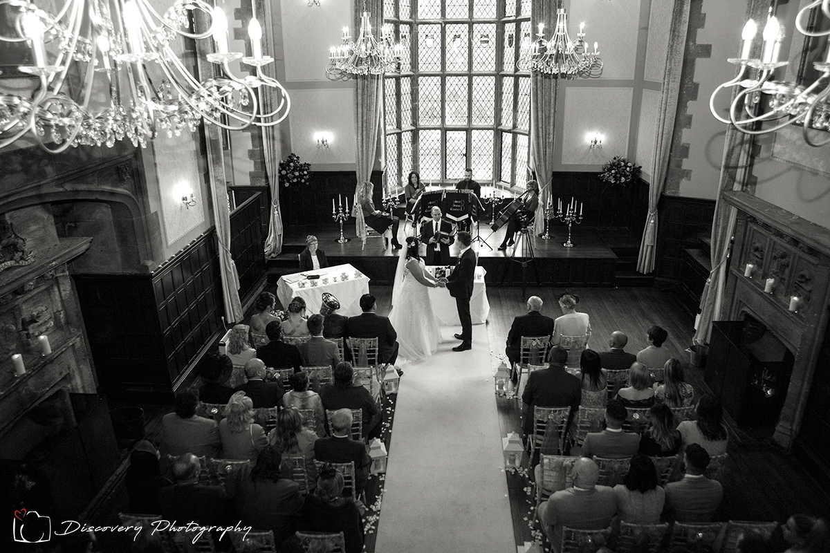 Wedding photography redworth Hall Mark and Alex Ceremony
