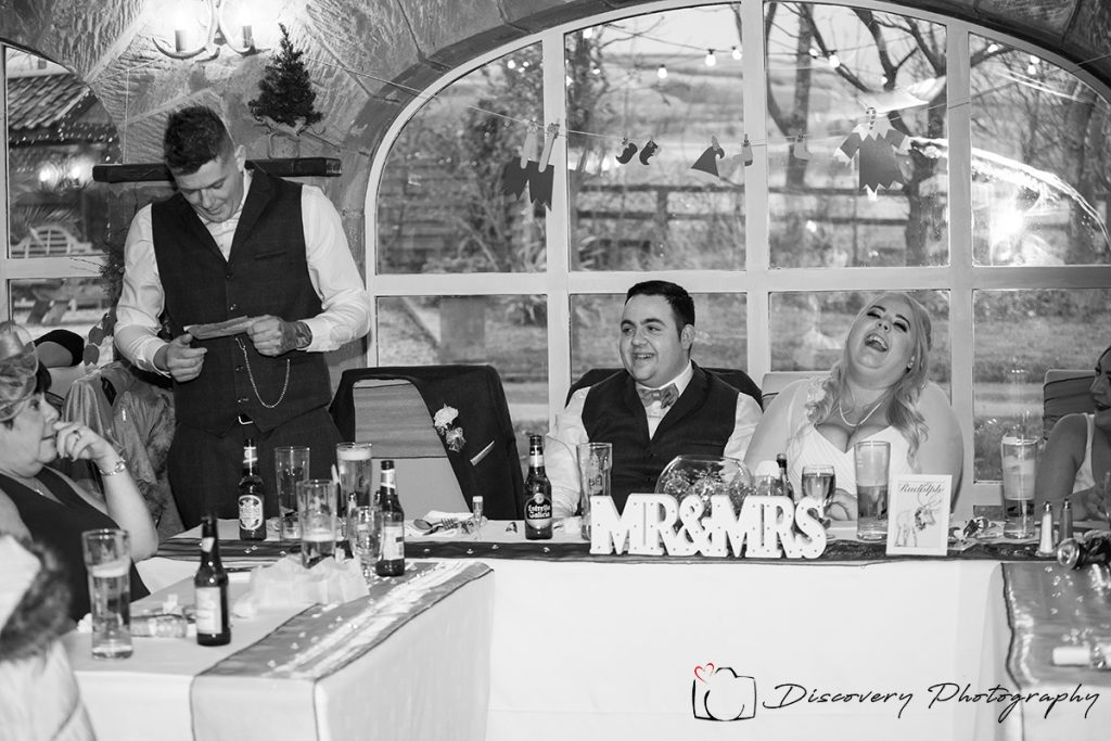 The arches Country House Brotton wedding Photography speeches