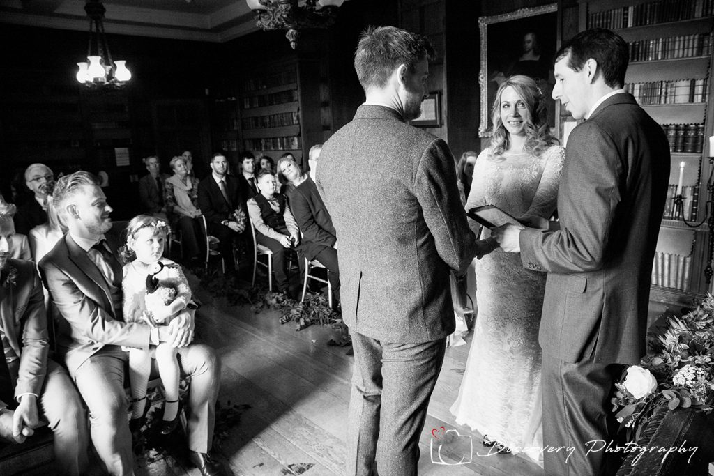 The wedding ceremony at Ripley Castle
