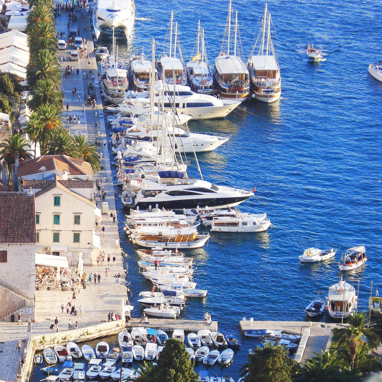 """Do It Like The Locals - Grab an espresso, relax and people watch just like the locals from one of the many cafes and restaurants on the Hvar waterfront, or """"riva""""."""