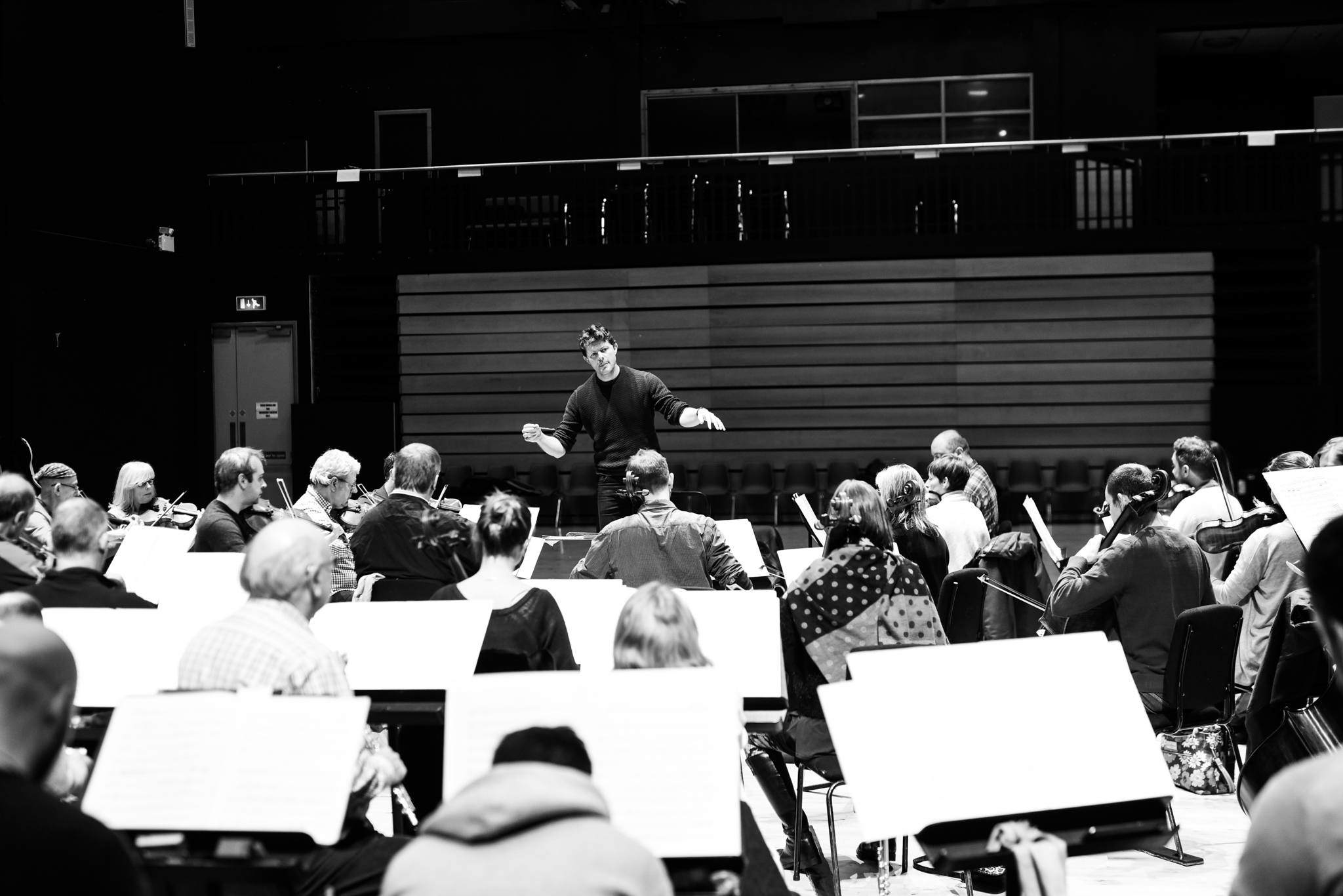 Conducting the Ulster Orchestra