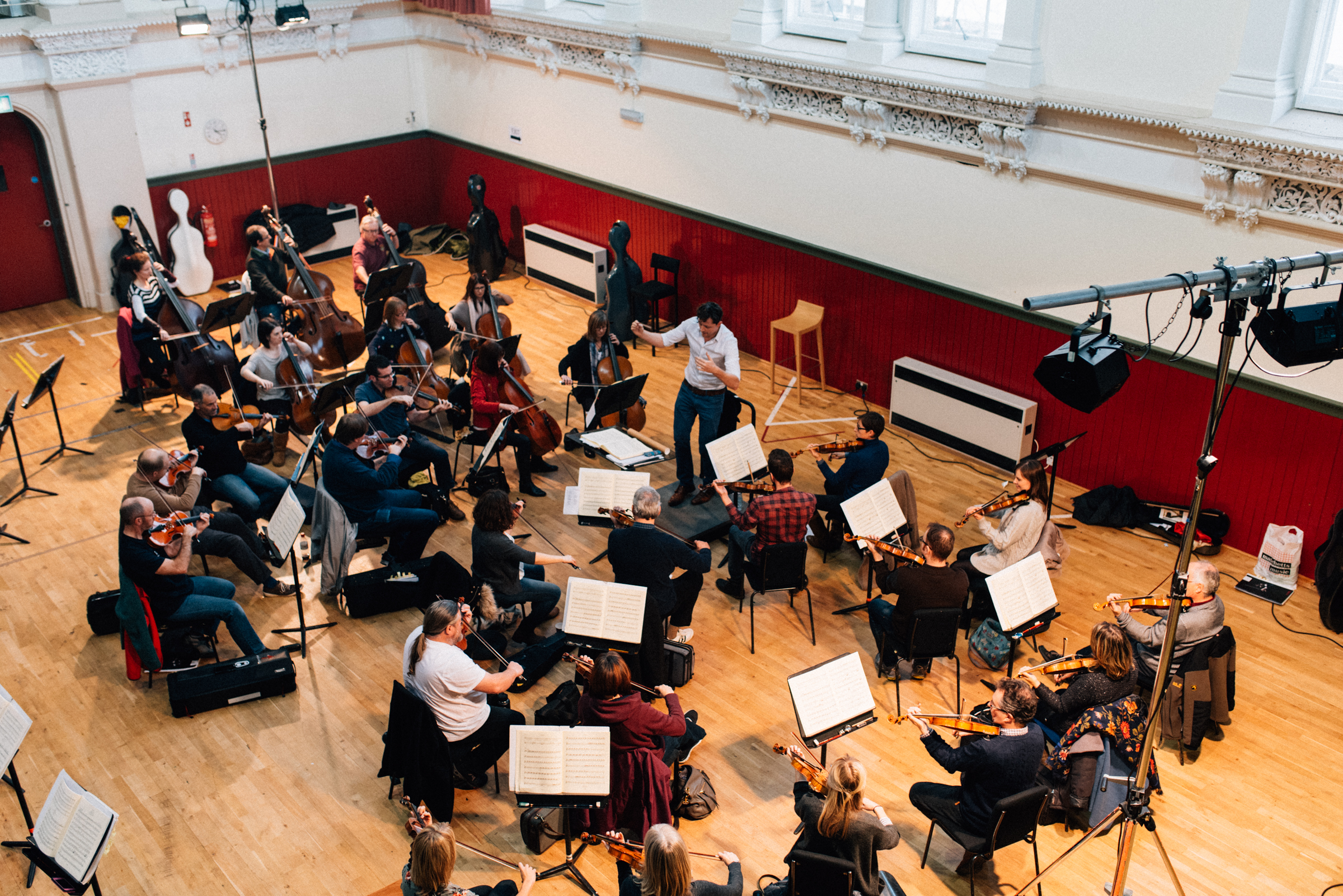 Rehearsing Don Giovanni with the Ulster Orchestra