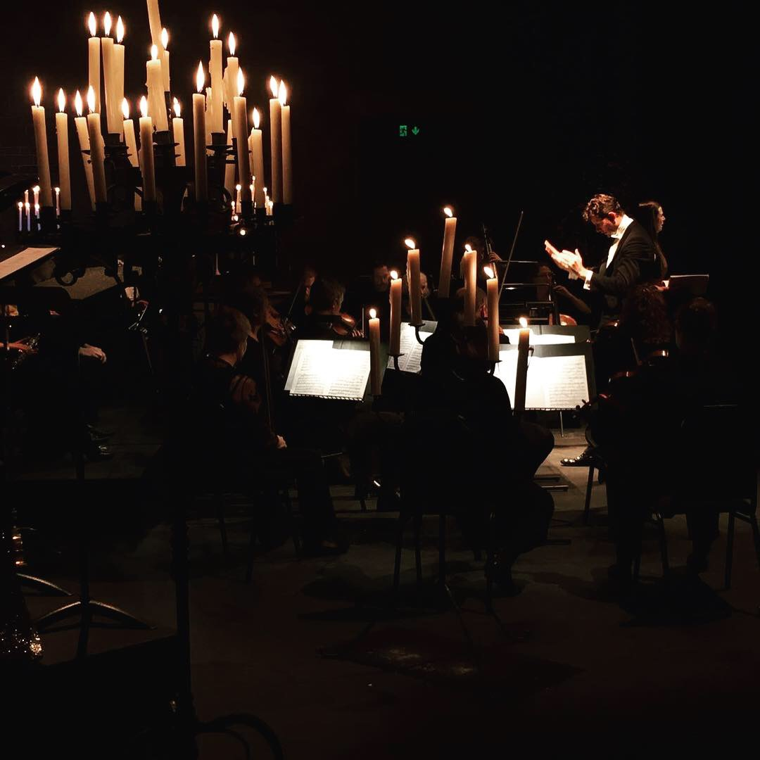Conducting  Messiah  by candlelight at Nevill Holt with The Britten Sinfonia and Nevill Holt Opera Young Artists