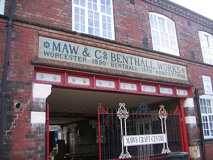 Maws Craft Centre, jackfield, ironbridge