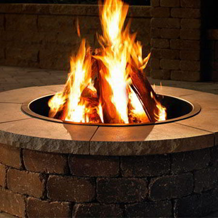 Rockwood Fire Pit with Granite Cap