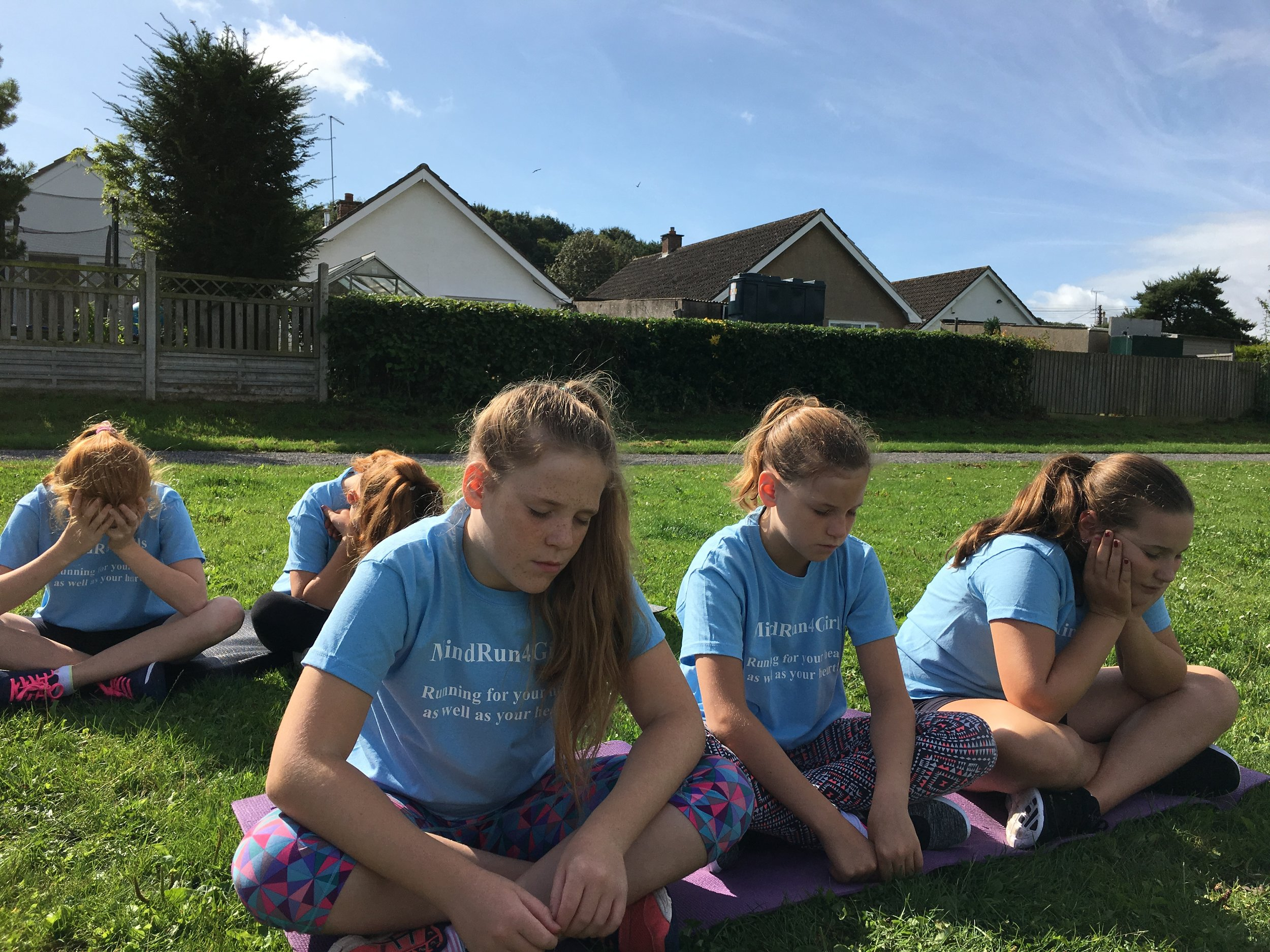 Our Mission - Our Mission is to empower all girls (aged 9-13), regardless of background or fitness level, to run for their heads as well as their hearts (well-being as well as physical benefits) and to share life skills with simple mindfulness and breathing techniques that can be applied to any aspect of their lives.