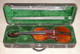 Loar's personal viola was made by August Diehl (1852-1922) and Loar had it fitted with a Virzi Tone Producer. Loar wrote about the benefits of the Tone Producer in  Virzi's 1929 catalog . In October 2004, after 62 years of storage, this instrument was once again played in public to the delight of many.