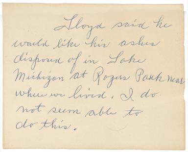 Bertha's note