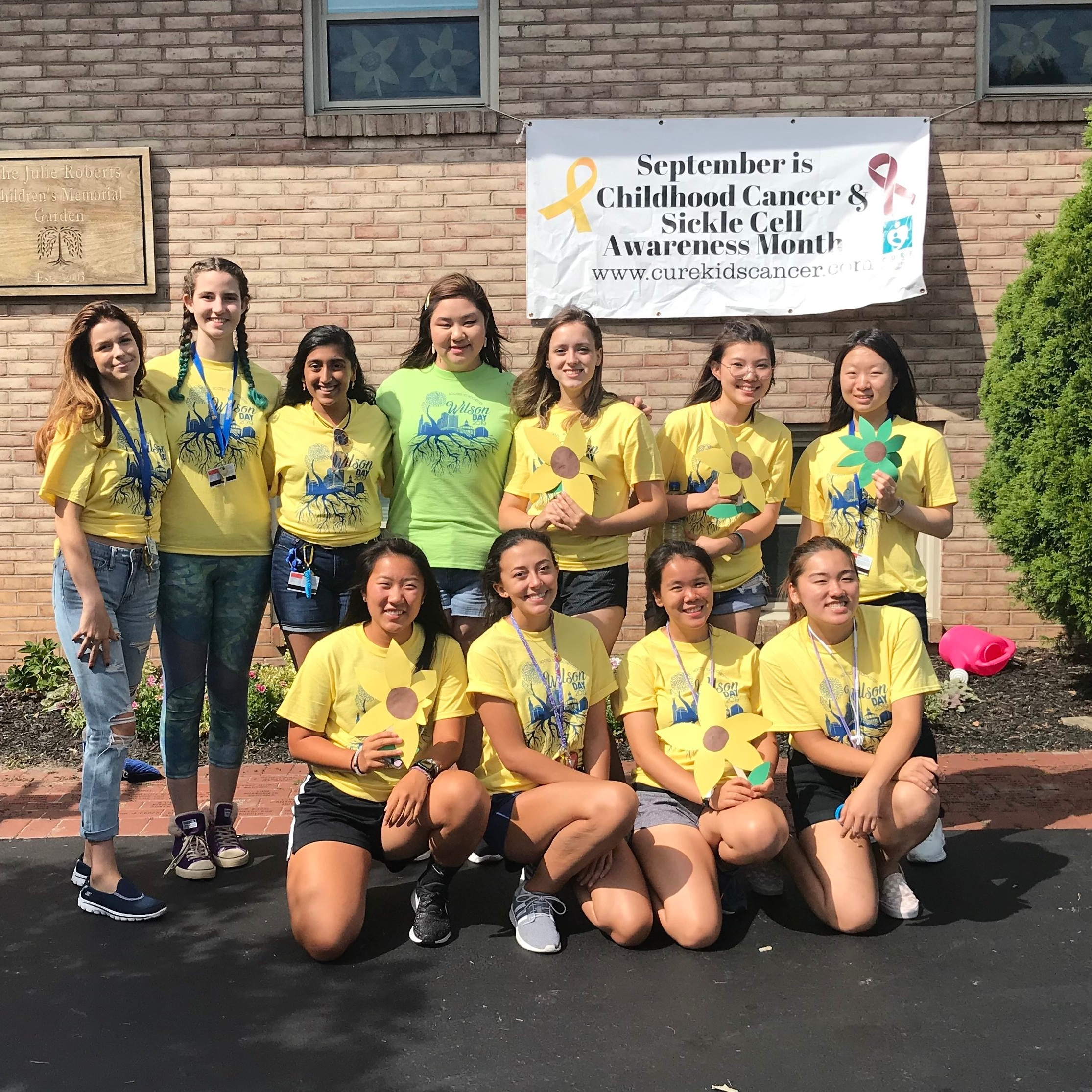 U of R's Wilson Day volunteers really worked hard to get us ready for September which is Childhood Cancer Awareness Month! Thank you girls for all your help!