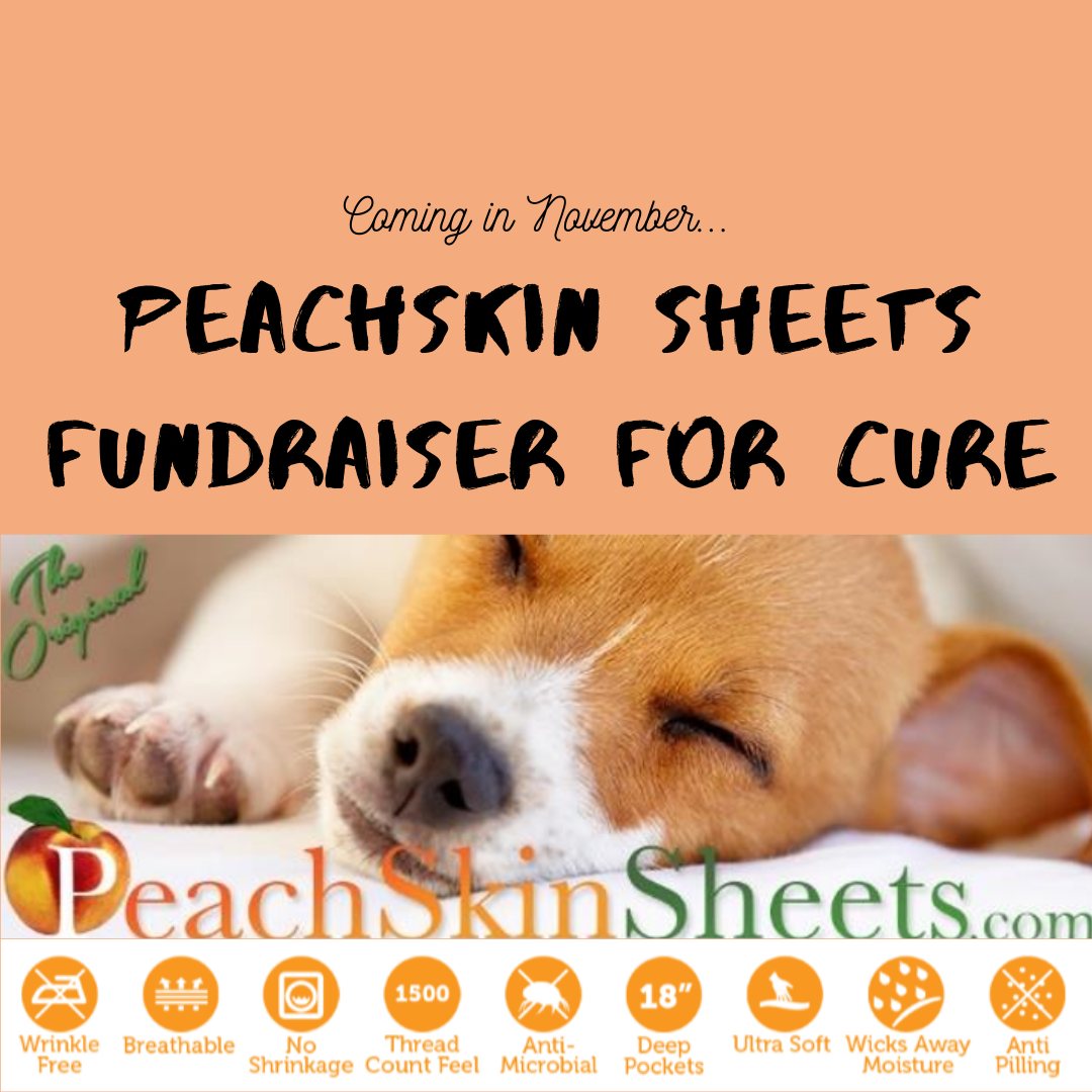 Mark your calendars! Our Peachskin Sheets Fundraiser is scheduled for November. These sheets are amazing! They are incredibly soft, and wrinkle free, making them the perfect holiday gift. And as a bonus, a portion of your total is donated back to CURE. That means for every sheet set you purchase, you are really giving two gifts!! More details will be available as we get closer to November.
