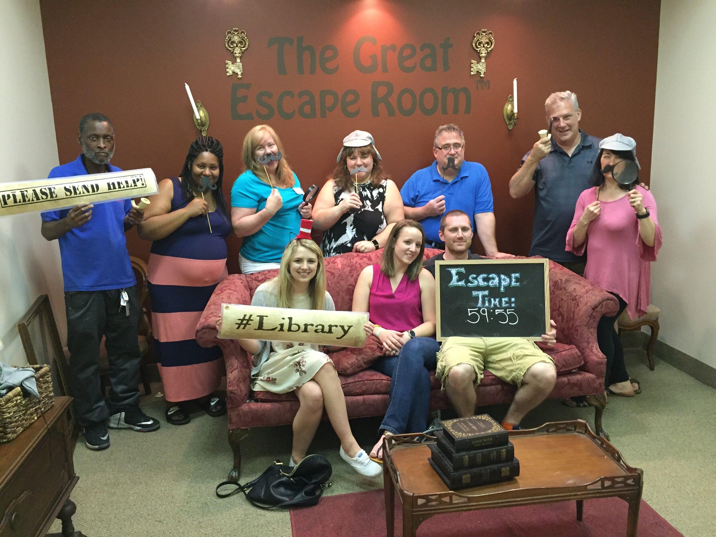 C.U.R.E. Parents at The Great Escape Room.