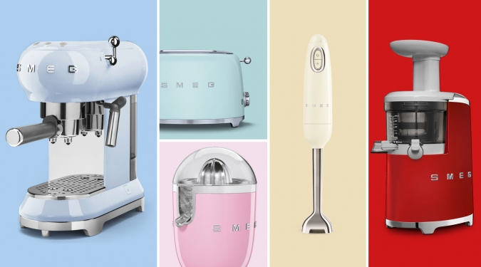 SMEG SMALL APPLIANCES - Symbolic objects, icons that transform the space that they occupy, the new '50s Retro-Style small appliances recall the past.