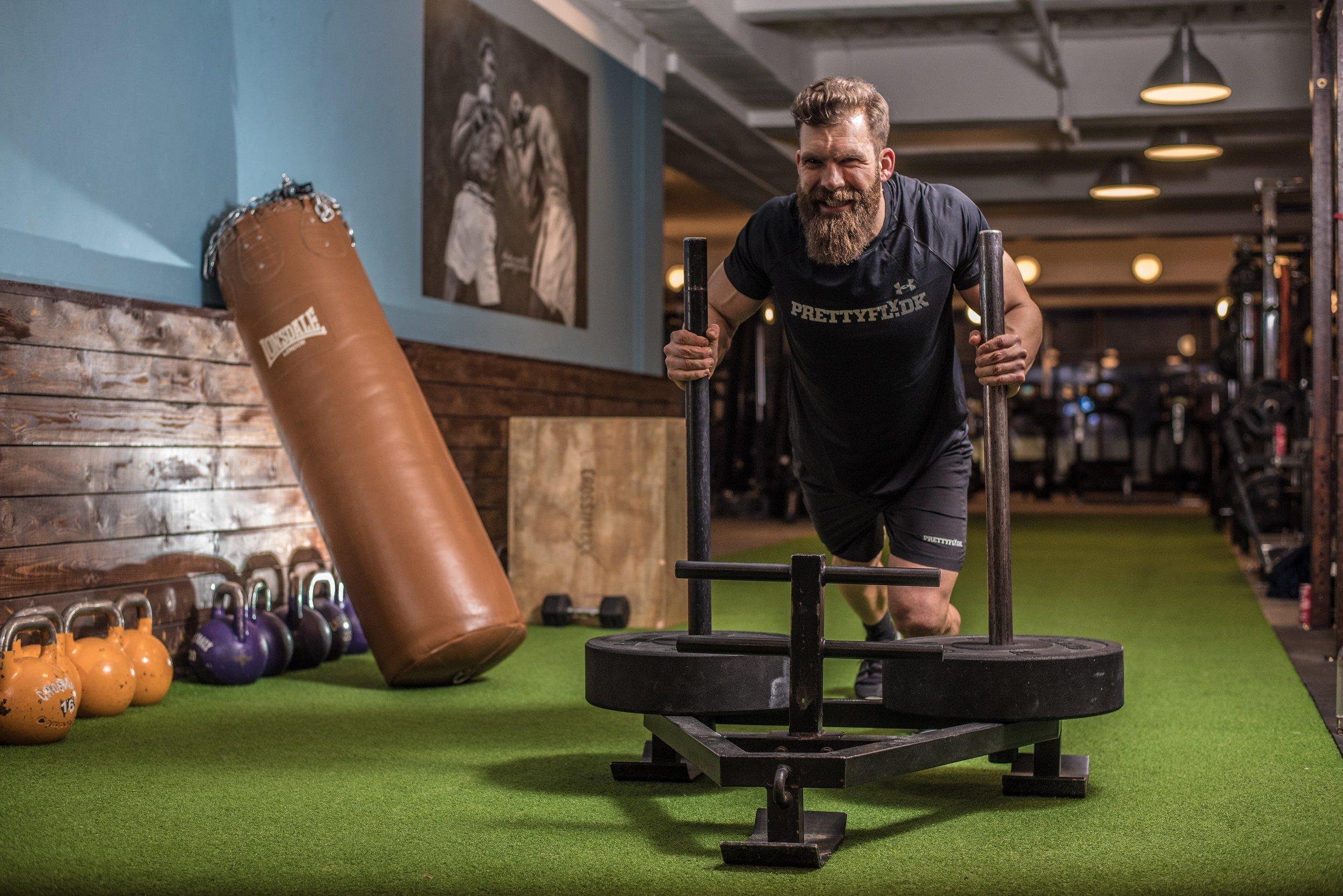 Sled pushes for beginners
