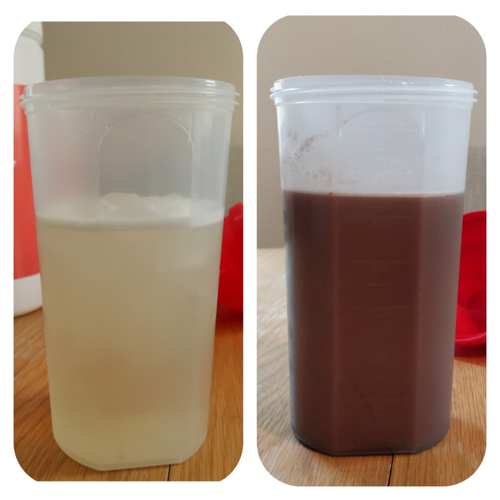 Whey isolate (Peach Tea) v whey concentrate (Chocolate)