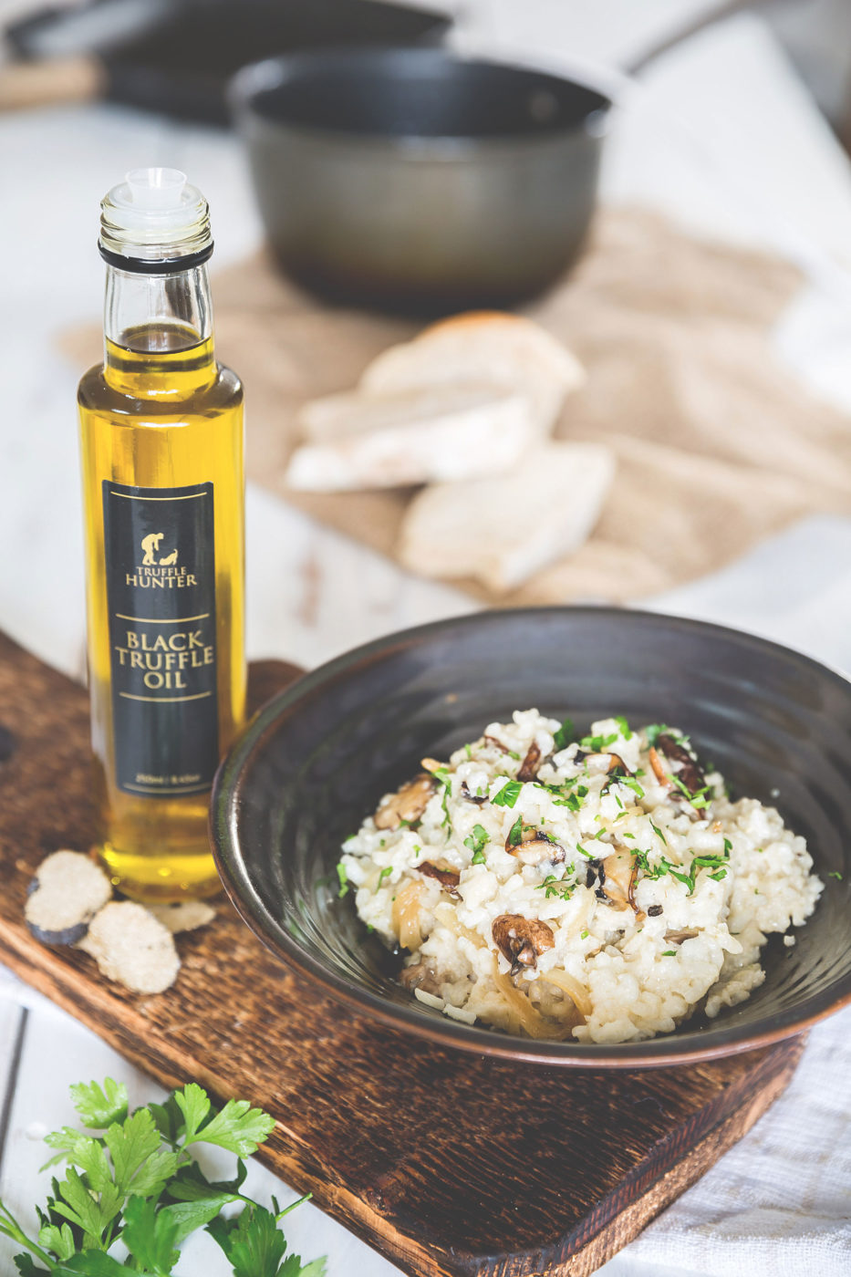 Mushroom Risotto with Black Truffle Oil