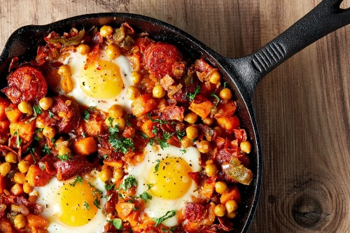 high protein low carb meals sweet potato hash