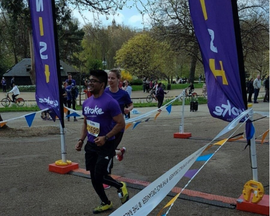 Daydreaming about burgers and fries at the end of a 10k run for the  Stroke Association  in Hyde Park, London, UK. Click on the image or their name to if you'd like to donate.