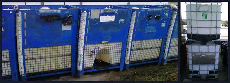 250-350 Gallon Steel/Poly DOT Totes