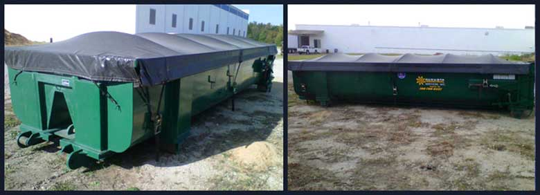 Open top Roll Off Containers