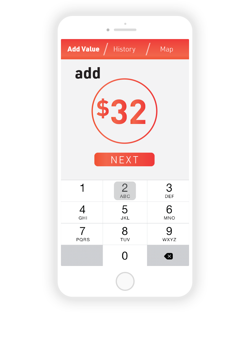 """4.  Tapping """"custom value"""" brings up numpad function to enter amount."""
