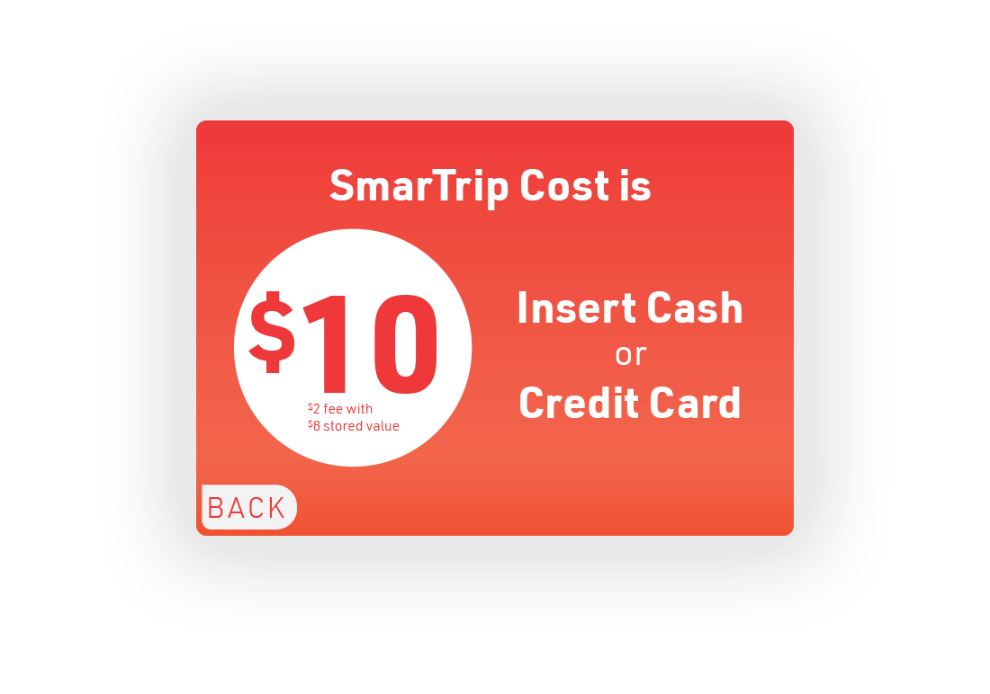2.  Purchase menu for SmarTrip card.