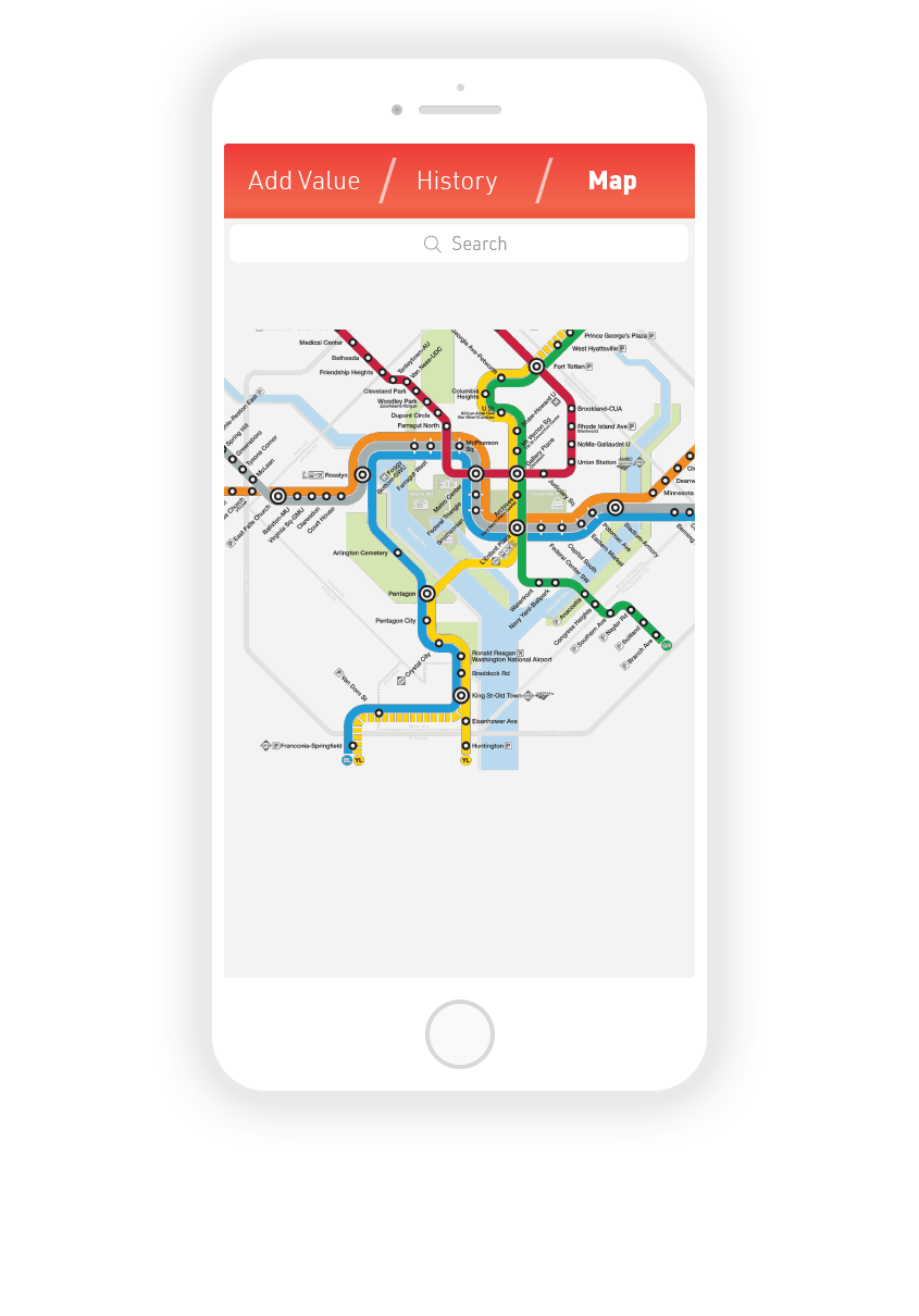 1.  Metro Map: Pinch & zoom and tap on stations to select, or type in the search.