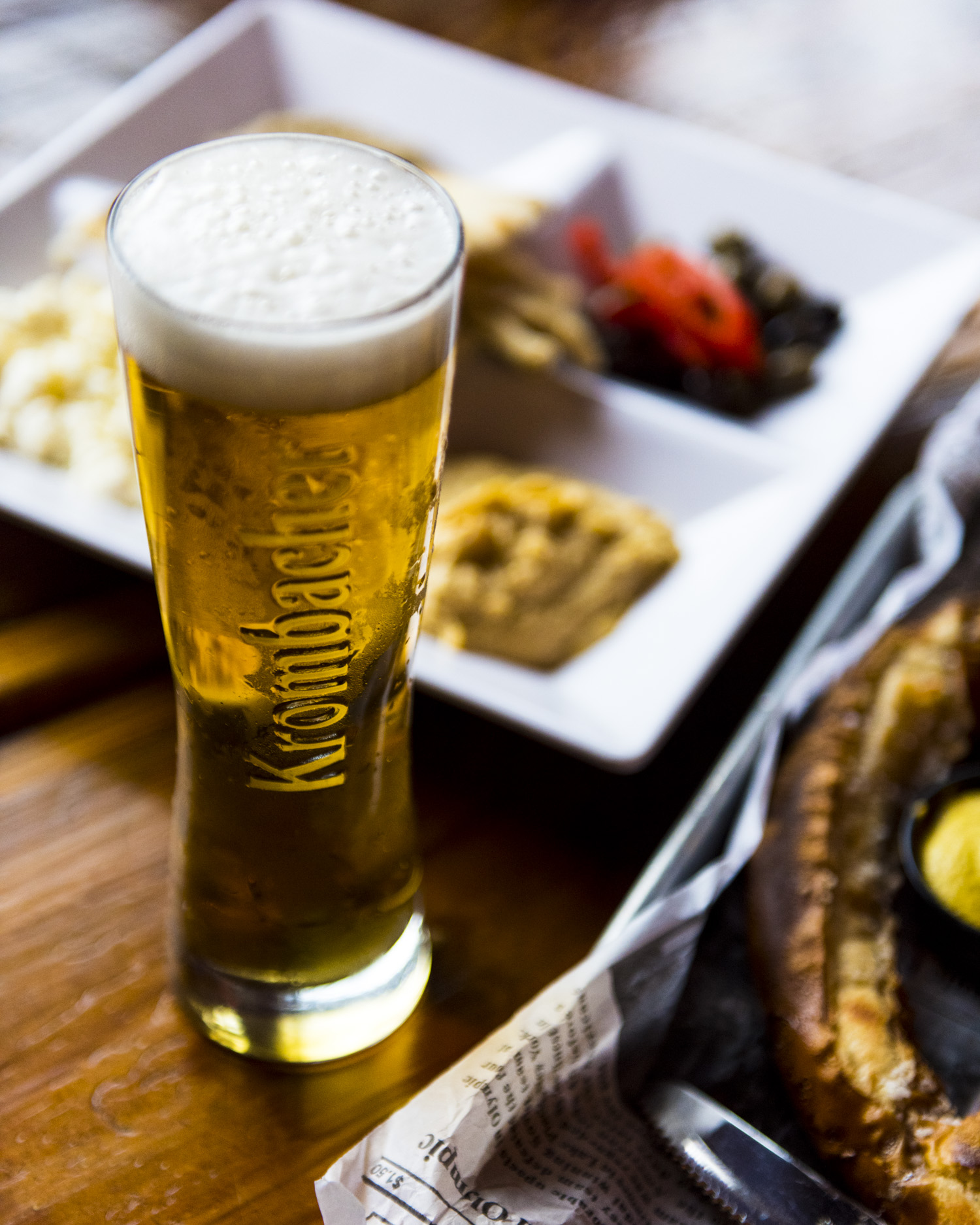Beer and appetizers