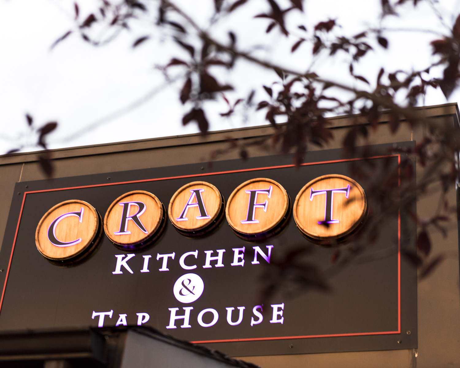 Craft Kitchen and Taphouse sign