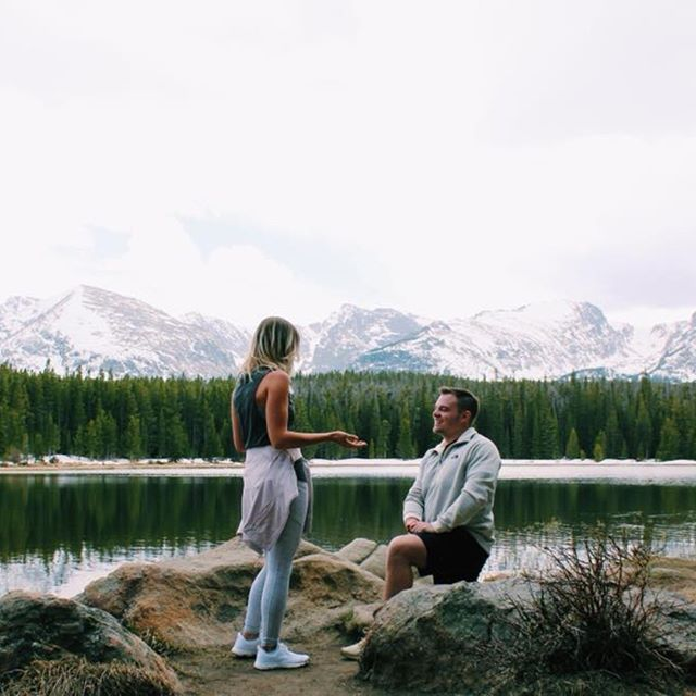 Need the scoop on how to keep your proposal a surprise? We shared our tips and tricks on the blog! • • • #engagement #justengaged #engaged #rockymountainengagement #weddingplanning #weddingblogger #byinvitationonlyblog #iowaweddingblogger #allthingswedding #allthingsengagement