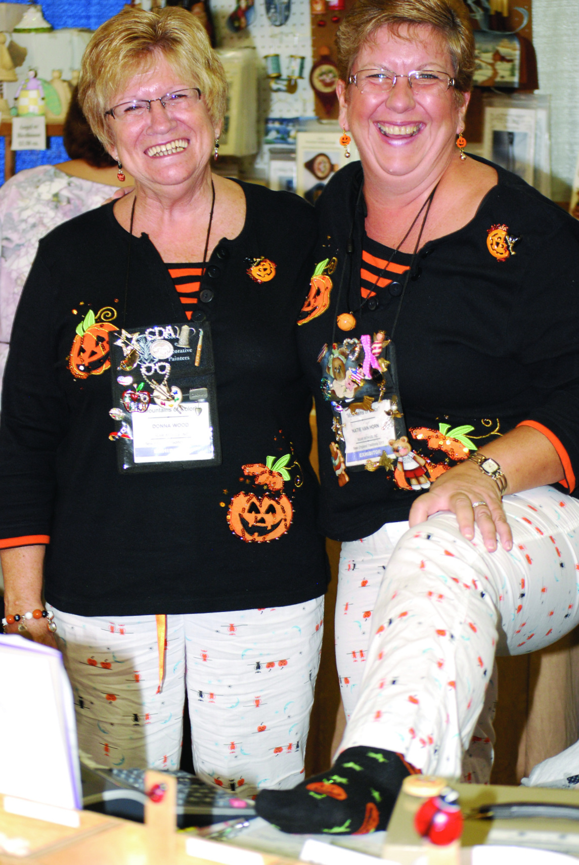 Bear With Us ready in their Halloween PJ's
