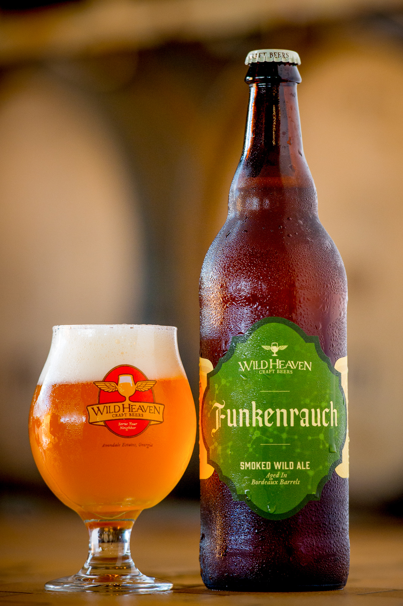 Funkenrauch - Smoked Wild Ale7% ABV | 7 IBUA truly new beer style is a rare thing. Funkenrauch is born of brewmaster Eric Johnsons's obsession with understanding beer on a molecular level. A 100% smoked malt beer shouldn't be so bright and light – but the addition of Drie Fonteinen brettanomyces eats up much of the smoky phenols that could have overwhelmed the palate, leaving behind a sour smoked ale that is unlike any we've ever tried.