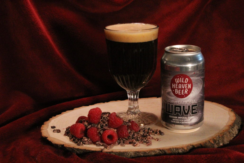 Gravitational Wave - Russian Imperial Stout14% ABV'Grav' is our Russian Imperial Stout brewed with smoked cocoa nibs from Xocolatl Small Batch Chocolate and a generous portion of fresh raspberries. This is a big, complex beer– as decadent as the universe is mysterious.