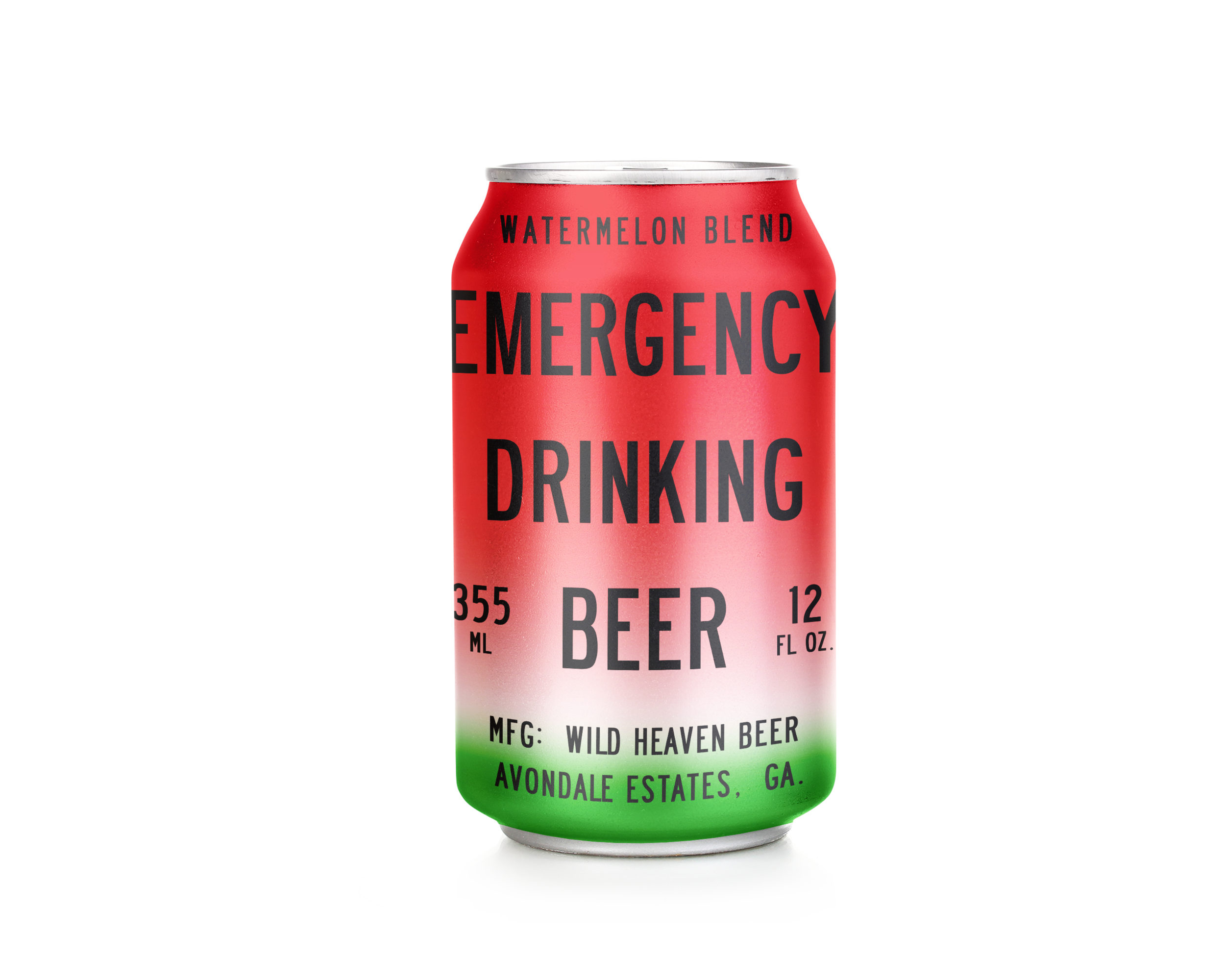 Emergency Drinking Beer Watermelon Blend - 4% ABVFruit BeerOur most popular beer, Emergency Drinking Beer plus fresh juiced watermelons. The perfect crisp summer beer, our team hand juices watermelons to create an authentic watermelon flavor, with nothing artificial. Available June-August.