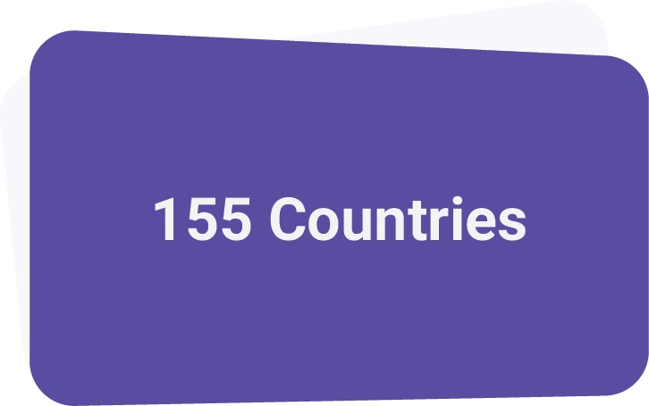- We currently deliver content to 155 countries on all continents