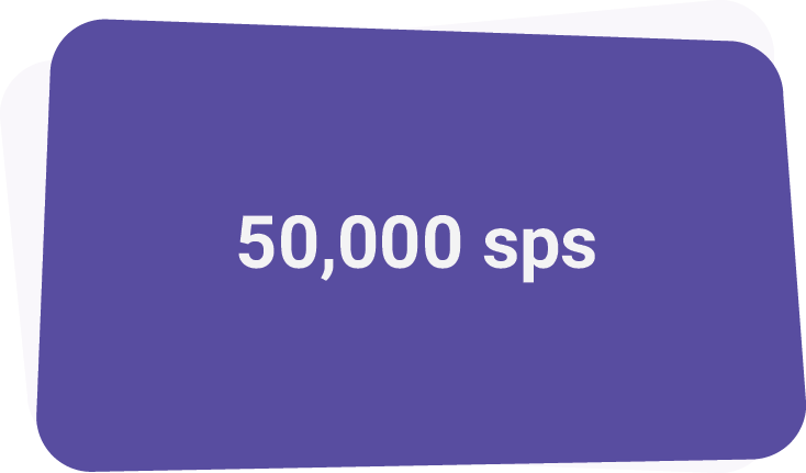- Last year, we delivered in excess of 50,000 streams per second
