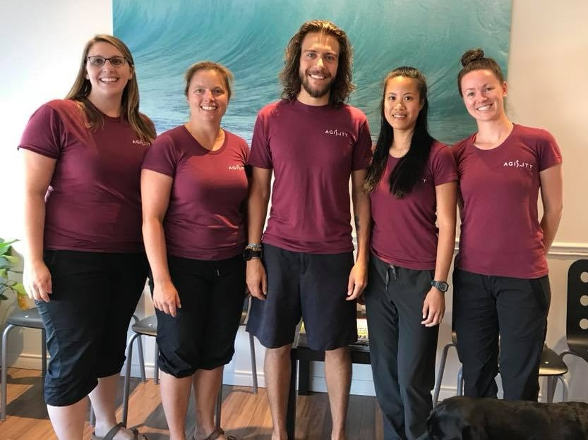 What We Do - Here at Agility we promote wellness, mobility and independent function. Winner of 'Best Physiotherapy Clinic' Ottawa West in 2018 & 2019 by Consumer Choice Award - our philosophy is to keep clinic visits to a minimum and instead empower patients to do as much of their own rehabilitation as possible.Our therapists have an advanced understanding of how the body moves, what keeps it from moving well and how to restore mobility to get you back to the things you love doing. We pride ourselves on offering one to one assessment and treatment sessions with our Registered Physio or Massage therapists.Learn More
